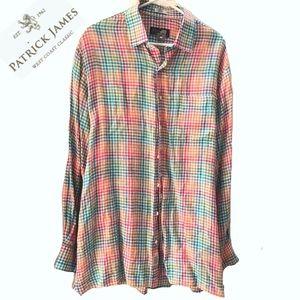 Patrick James Reserve Linen Shirt Sz. L